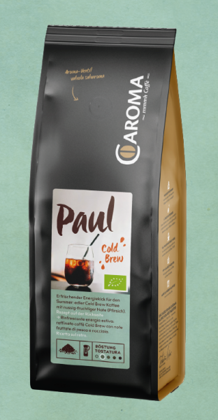 Paul, 100% Arabica, COLD BREW Kaffee Bio, 250g, gemahlen - Caroma
