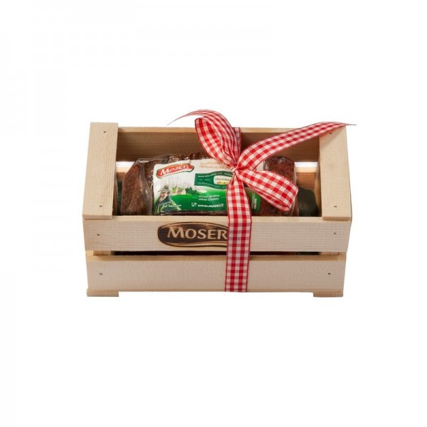 Speck nella cassetta in legno - Idea regalo - Moser srl