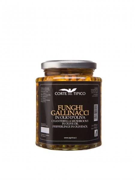 Funghi gallinacci in olio d'oliva, Vasetto, 290 g - Agraria Riva del Garda
