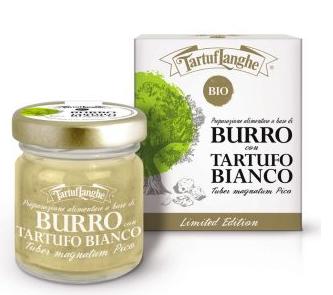 Burro con tartufo bianco biologico 30g (Tuber Magnatum Pico) - Tartuflanghe