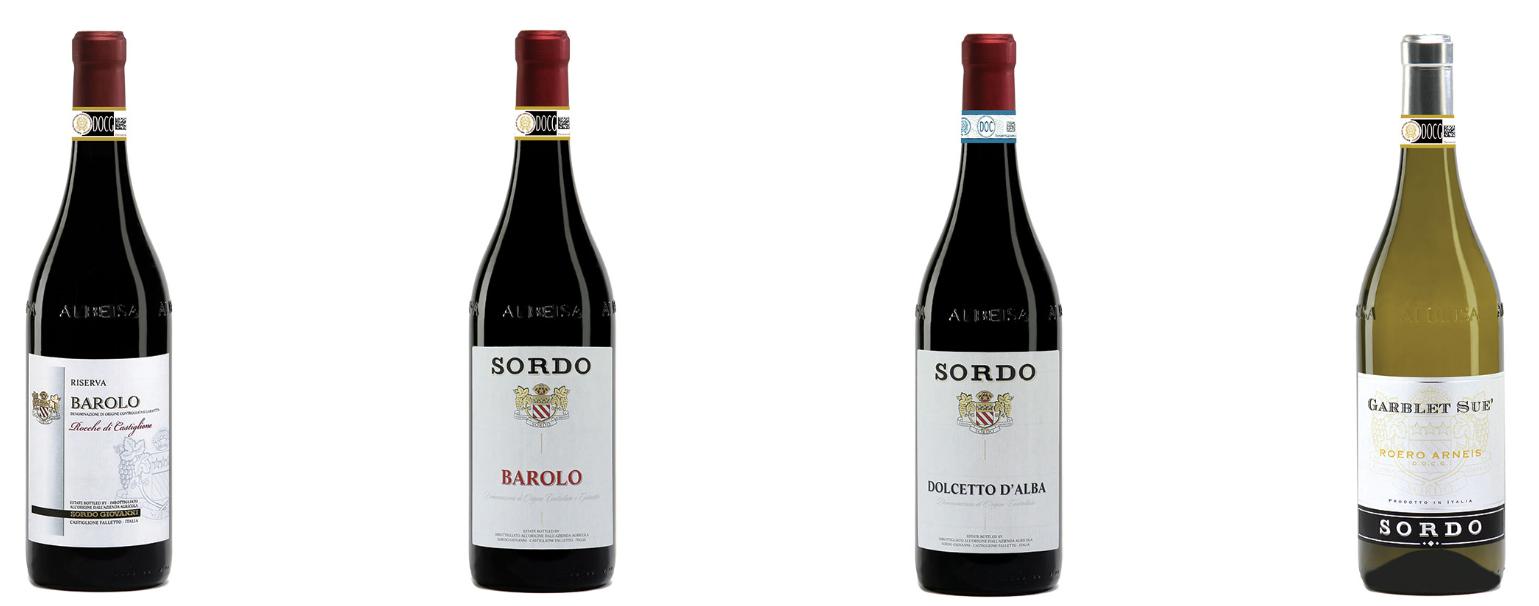 Weinsortiment-Weinberge-Flasche-Wein-Keller-Glas-Barolo-Piemont-Sordo-Giovanni
