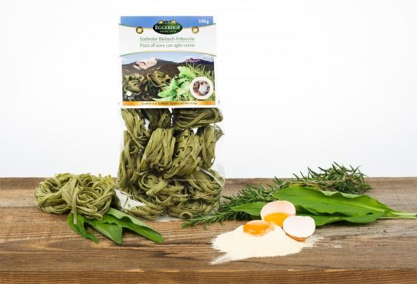 Eggerhof Bärlauch Fettuccine aus Südtirol - Eier- & Kräuterbandnudeln, 330 g