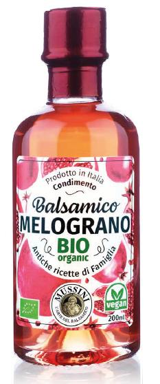 Condimento Balsamico Granatapfel BIO, I.G.P. , 200ml - Mussini