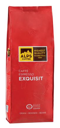 ALPS COFFEE Espressobohnen - Kaffeebohnen Exquisit 500g o. 1kg
