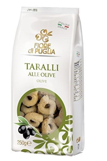 Fiore di Puglia Taralli Olive - italienische Knabberei mit Oliven aus Italien, 250g