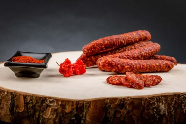 Salsiccia affum. piccante / Kaminwurz piccante ca. 340g - Macelleria Mair