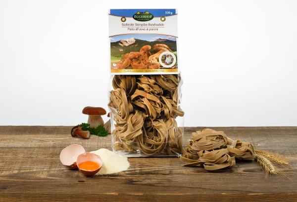 Eggerhof Steinpilznudeln aus Südtirol - Eierbandnudeln verfeinert mit Steinpilzen, 330 g