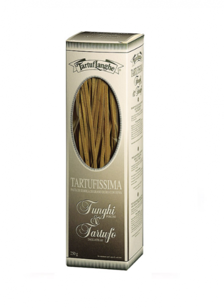 Tartuflanghe Tartufissima Tagliatelle - Nudeln aus Hartweizengrieß mit Steinpilzen & Trüffeln, 250g