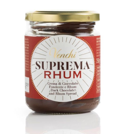Crema suprema RHUM, 250 g - Venchi S.p.A.