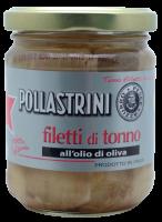 Thunfischfilet, eingelegt in Olivenöl, 200g - Pollastrini