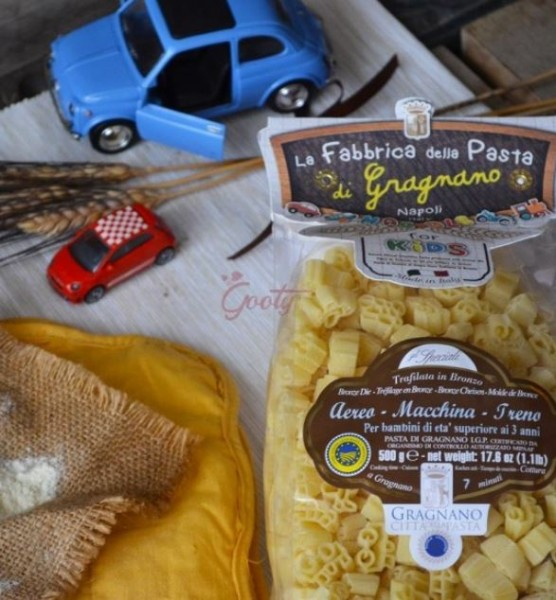 La Fabbrica della Pasta Exzellente Nudeln für Kinder IGP - Flugzeug, Auto und Zug, 500g