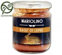 Ragù di lepre selvatica, salsa con carne di lepre selvatica e pomodori, 212 ml - Mariolino