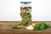 Spinat Fettuccine, Eierbandnudeln mit Spinat aus Hartweizengrieß, 330g - Eggerhof