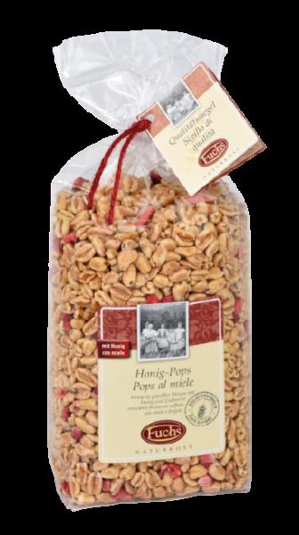 Honig Pops - gepuffter Weizen mit Honig und Erdbeeren, 250g - Fuchs Naturkost