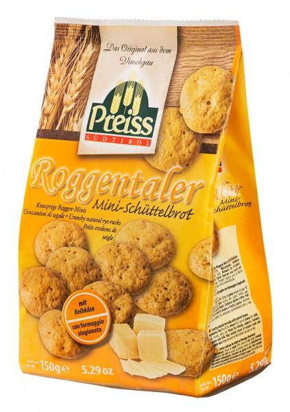Preiss Südtiroler Roggentaler mit Reibkäse - Knuspriges Kleingepäck, 150g