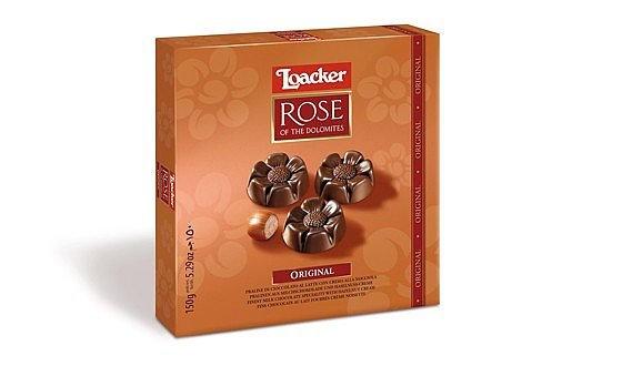 Loacker - Rose of Dolomites 150g Original - Cremig-süßer Blütentraum mit feinem Nuss-Bouquet