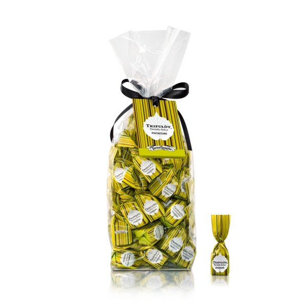 Trifulot süße Pistazien Trüffelpralinen - Mini Pralinen aus Alba Italien
