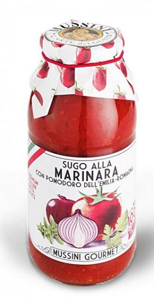 Mussini Sugo alla Marinara - bester Tomatensugo aus Italien mit viel Zwiebel und Schnittlauch, 500ml