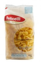 Felicetti Conchiglie Grano Duro - Muschelnudeln aus Hartweizengrieß, 500g