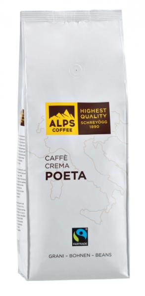 ALPS COFFEE Espressobohnen Poeta - milde Espressobohnen, 1Kg
