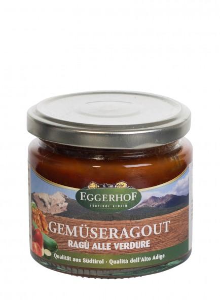 Eggerhof Gemüse Ragout - Gemüsesauce aus Südtirol mit Tomaten herzhaft verfeinert, 210g