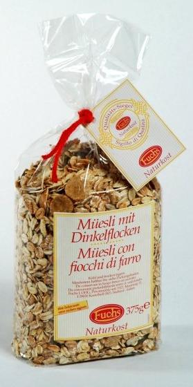 Fuchs Naturkost Müsli mit Dinkelflocken - Müsli mit Dinkelvollkornflocken, 375g