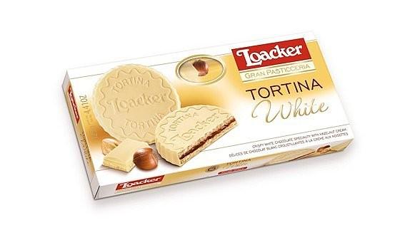 Loacker Tortina White - Zarte Schokowaffel mit weißer Schokolade 3x 21g