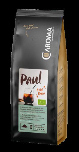 Paul, 100% Arabica, COLD BREW Kaffee Bio, 250g, gemahlen - Caroma