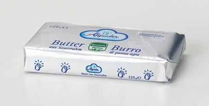 Algunder Sennerei Burro 125g, 250g e 500g da panna acida