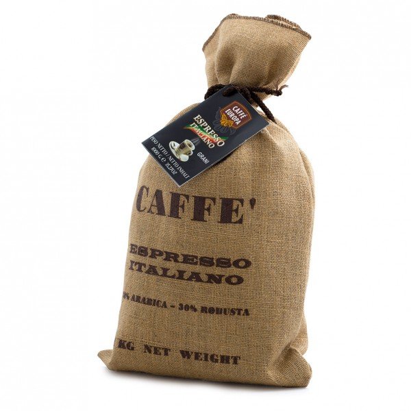 Miscela Extra Bar, Kaffeebohnen, 1 kg in Jutesack - Caffè Europa