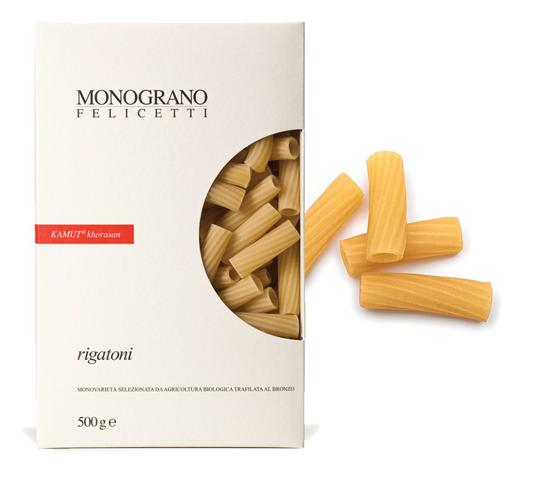 Monograno Felicetti Kamut Rigatoni - kurze Nudeln aus Kamutmehl, 500g