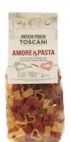 Nudeln in Herzform, rot und gelb - handgefertigt aus Italien, 250g - Antichi poderi Toscani