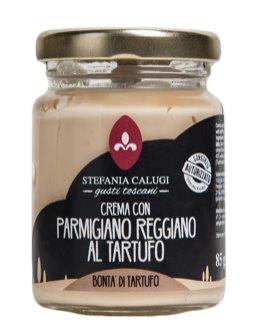 Calugi Parmigianocreme mit Trüffel - Trüffelcreme verfeinert mit Parmesankäse, 85g