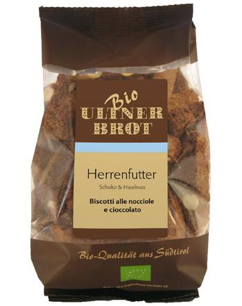 Ultner Brot BIO Herrenfutter Schoko und Haselnuss - Kekse, 175 g