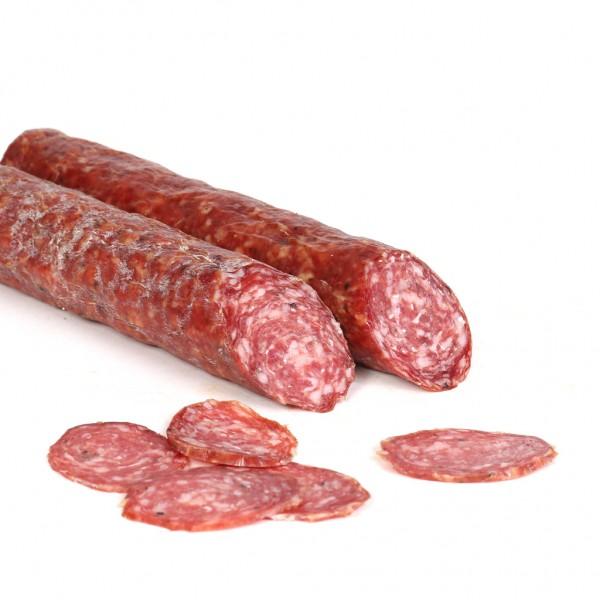 Knoblauchsalami aus Südtirol - Salami aus Schweinefleisch mit Knoblauch, vakuumiert, ca.240g - Rinne