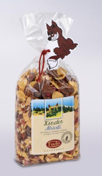 Fuchs Naturkost Kids-Müsli - mit Cornflakes, Schokolade, Erdbeeren & Honig, 250g