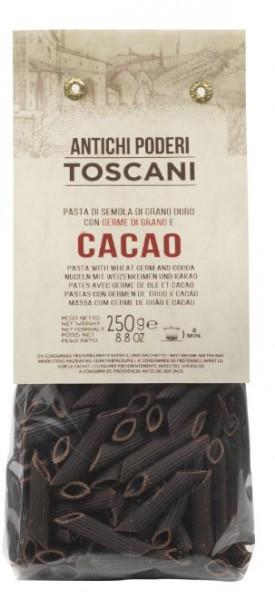 Antichi poderi Toscani Penne Nudeln mit Kakao - außergewöhnliche Nudeln mit Kakao aus Italien, 250g
