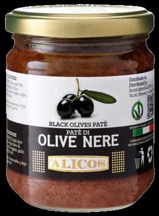 Paste aus schwarzen Oliven, 180g - Alicos
