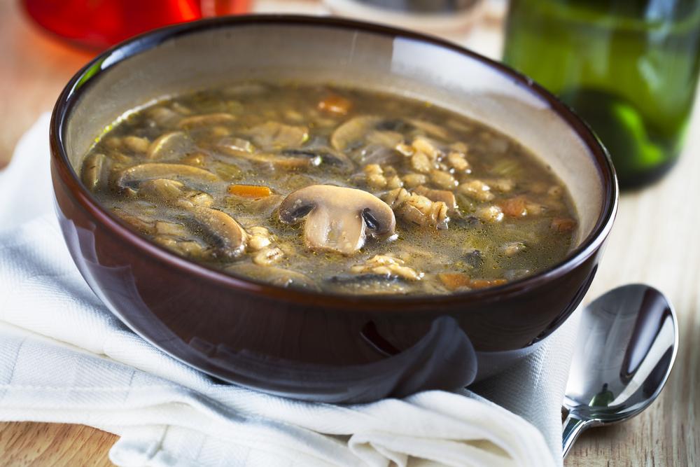 Gerstsuppe-mit-Pilzen