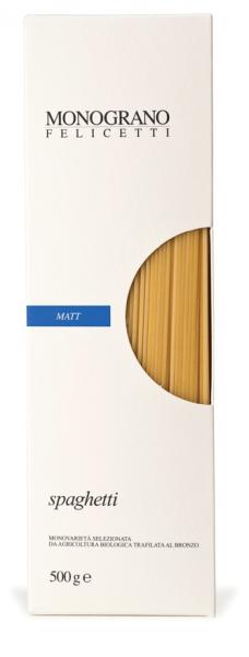 Monograno Felicetti Spaghetti BIO Matt - Spaghetti aus Hartweizengrieß, 500g