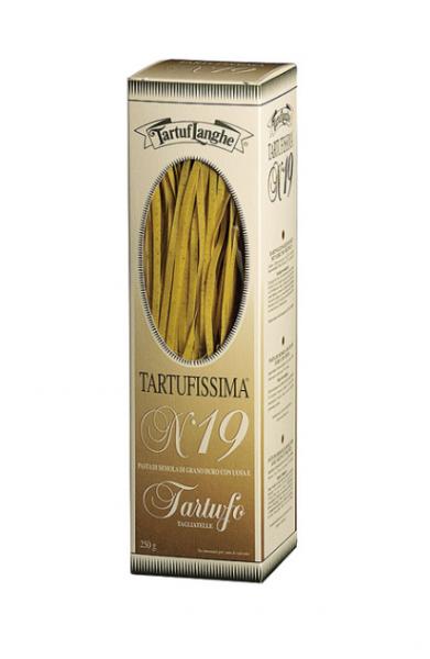 Tartuflanghe Tartufissima N°19 Tagliatelle - Nudeln aus Hartweizengrieß mit Trüffeln, 250g