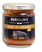 Wildschweinragout, Sauce mit feinstem Wildschweinfleisch und Tomaten - Mariolino