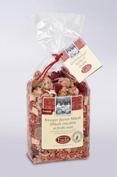 Fuchs - Müsli mit Erdbeere, Himbeere und Äpfel, 350g