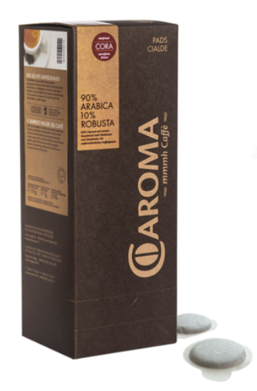 Espresso Cora Pads 90% Arabica, 10% Robusta - Caroma