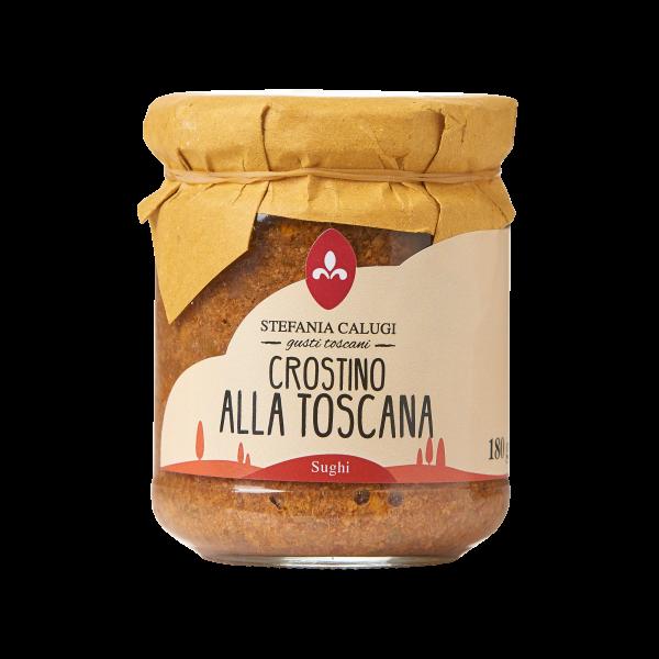 Calugi Crostino Toscano - Paté auf Toskanische Art für Crostini und Bruschette, 180g
