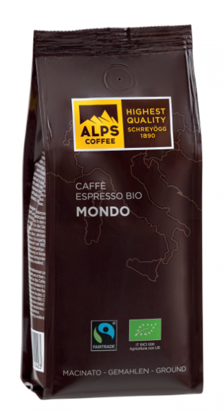 ALPS COFFEE Bio Espresso Mondo - gemahlener Bio Kaffee 250g