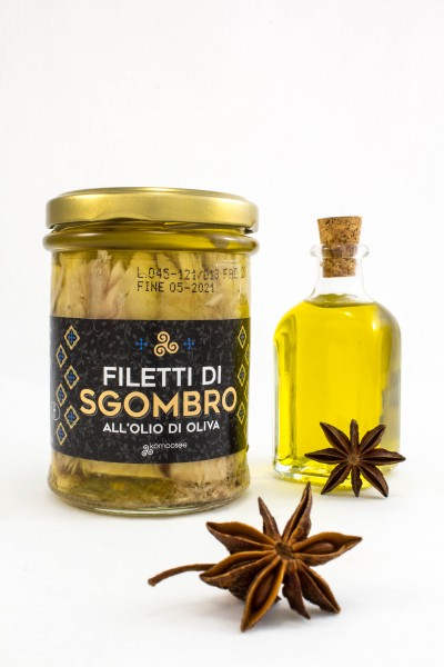 Filetti di sgombro all'olio di oliva, vasetto, 200 g - Komoosee