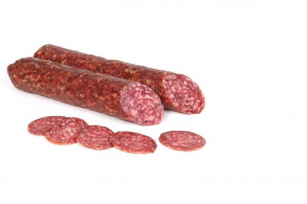 Rinner Rehsalami aus Südtirol - Salami aus Schweine-und Rehfleisch vakumiert, ca.240g