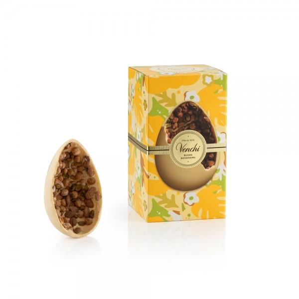 """Uovo di Pasqua """"Gran Gourmet"""" al cioccolato bianco con mandorle di Sicilia, 540 g. - Venchi 1878"""