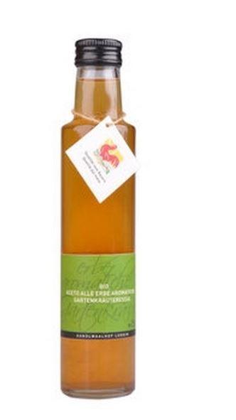 Luggin Kandlwaalhof Aromatisierter Apfelessig mit Gartenkräutern - Bester Essig aus Süditrol,250ml